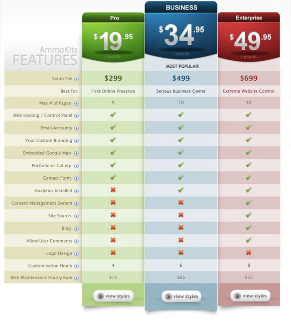 Pricing Table Inspiration 6